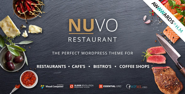NUVO - Cafe & Restaurant WordPress Template - Mehrere Restaurant- und Bistro-Demos