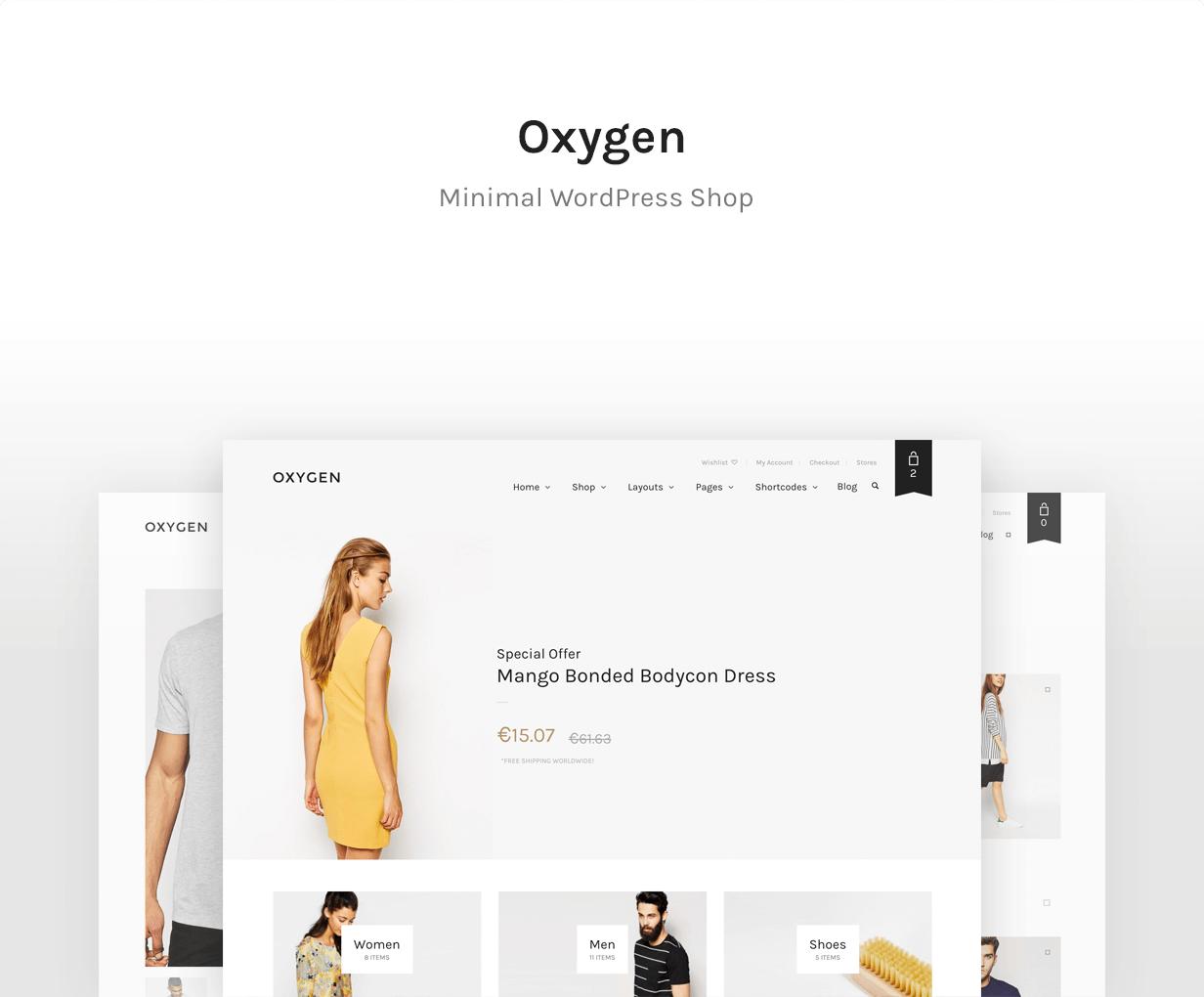 Sauerstoff - Bestes WooCommerce-Thema