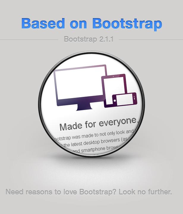 basierend auf Bootstrap