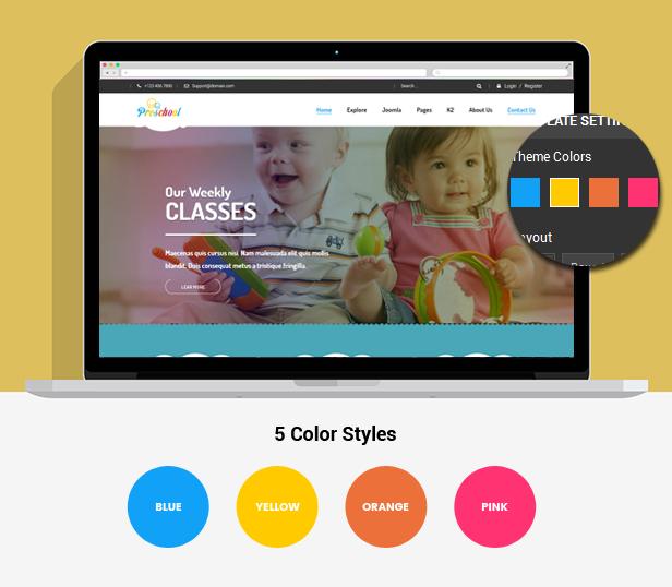 Vorschule - Kindergarten Kindergarten und Schule WordPress Template