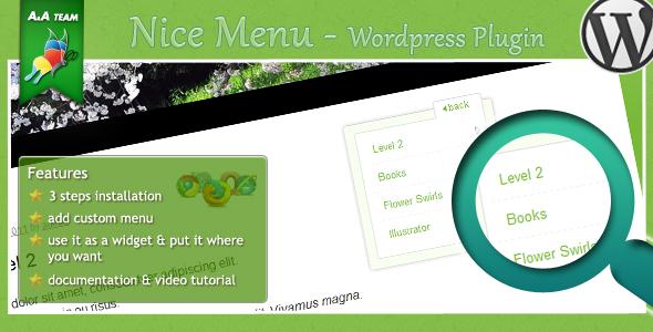 niceMenu - Wordpress Plugin