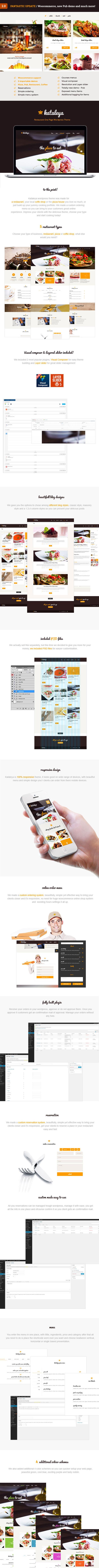 Kataleya - Restaurant Pizza Kaffee WordPress Template