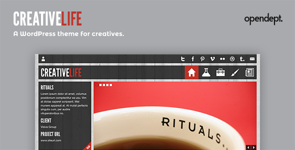 CreativeLife - WordPress Template für Kreative