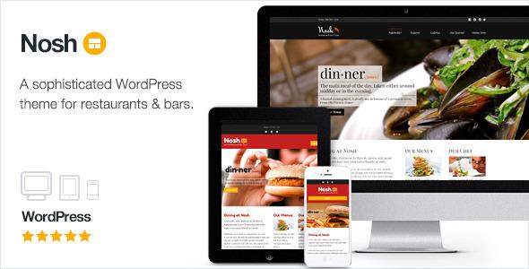 Nosh - Restaurant und Bar WordPress Template