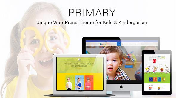 Primär - Kinder und Schule WordPress Layout | Bildungsmaterial Design WP