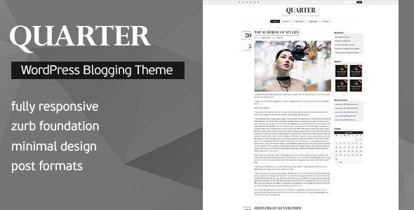 Quartal - Responsive WordPress Blogging Template
