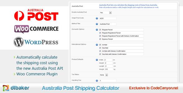 WooCommerce Australien Postversandrechner