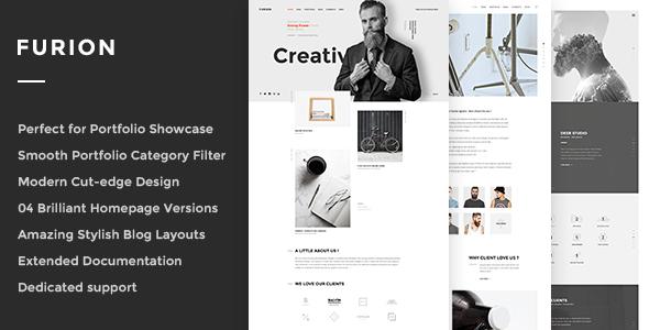 Furion - Kreatives Blog & Portfolio WordPress Layout