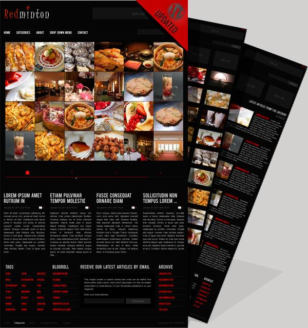 Redminton - Restaurant WordPress Vorlage