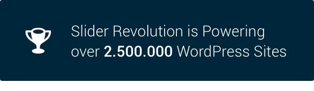 Slider Revolution 2.500.000 WordPress Seiten