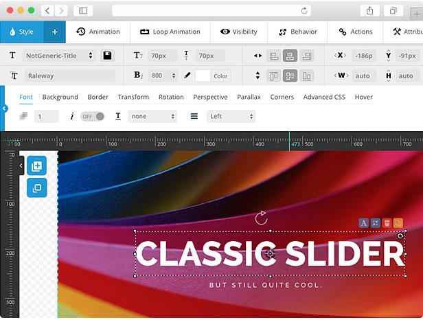 Noisa WordPress Template - Revolution Slider