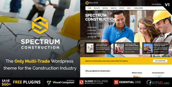 Spektrum - Multi-Trade Construction Business Template
