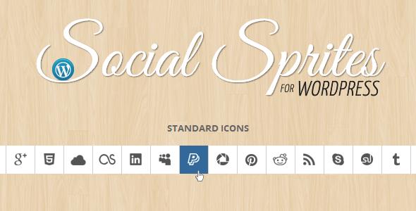 Soziale Sprites Icons Widget