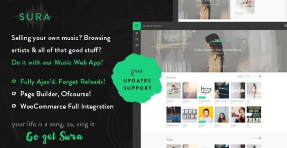 Sura - Eine Musik Web App WordPress Vorlage