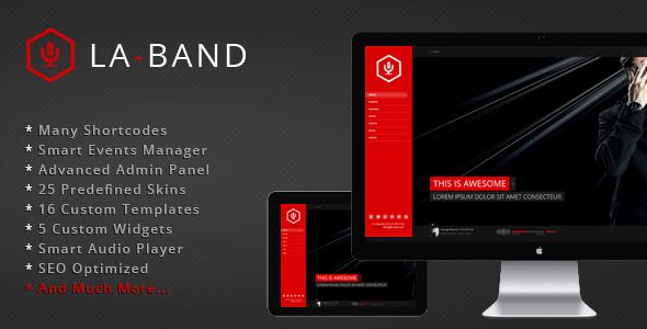 LA-BAND - Musikband Premium WordPress Template