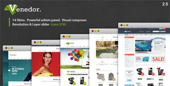 Venedor - WordPress + WooCommerce Vorlage