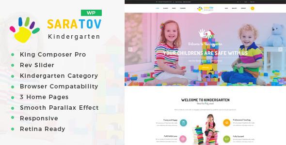 Saratow - Tagespflege & Kindergarten Schule WordPress Template