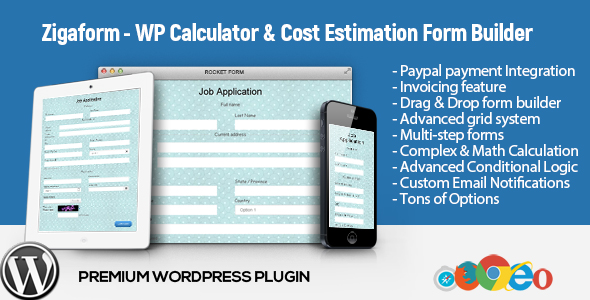 Zigaform - WordPress Calculator & Kostenschätzung Form Builder