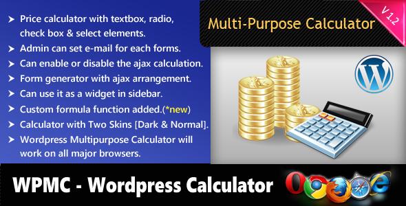 Wordpress Mehrzweckrechner