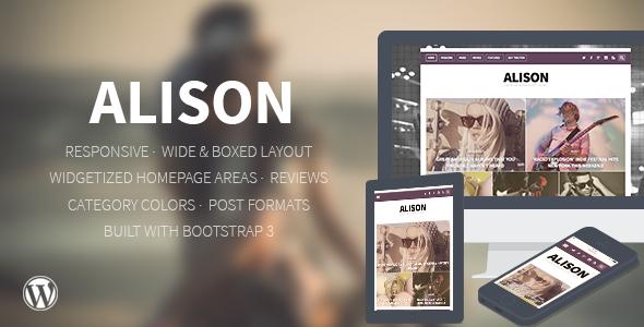 Alison - Responsives WordPress-Nachrichten-Layout