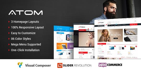 Atom - Responsives WooCommerce WordPress Template