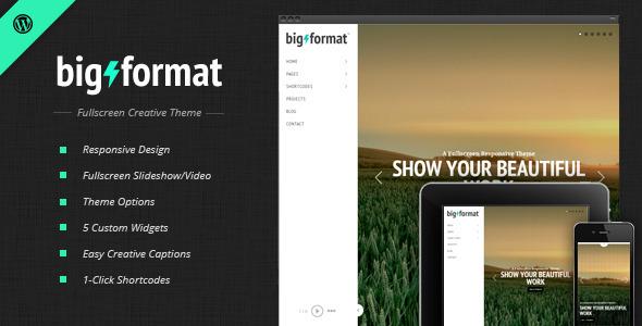 BigFormat - Responsive Vollbild WordPress Vorlage