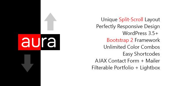 Aura - WordPress Einzigartige & Responsive Split-Scroll