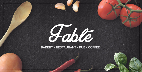 Fabel - Restaurant Bäckerei Cafe Pub WordPress Vorlage