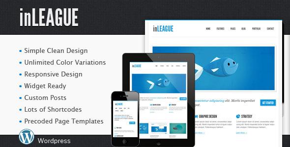 inLEAGUE Responsives Blog / Portfolio Wordpress Vorlage