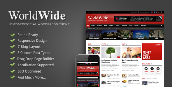 Weltweit - Responsive Magazine WP Layout