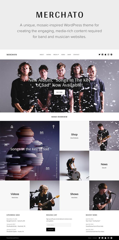 Merchetto Musik und Band WordPress Vorlage