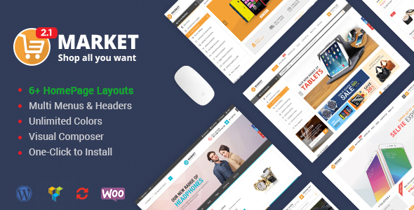 Markt - Einkaufen WooCommerce WordPress Vorlage