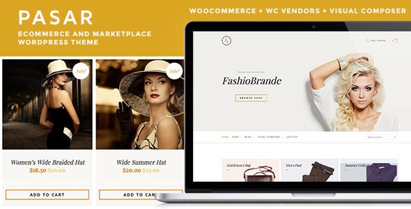 Pasar - eCommerce und Marktplatz WordPress Vorlage