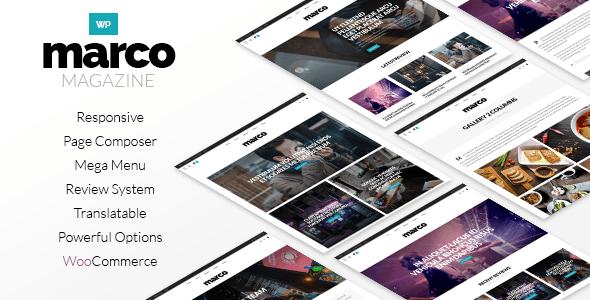 Marco | Responsive Magazin WordPress Layout