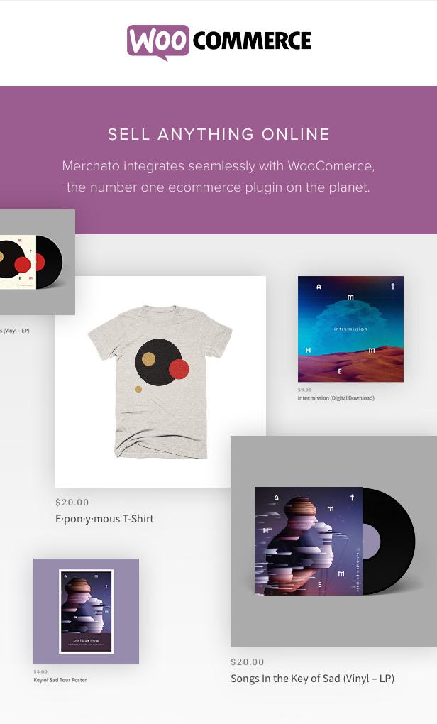 Merchetto eCommerce für Musiker mit WooCommerce