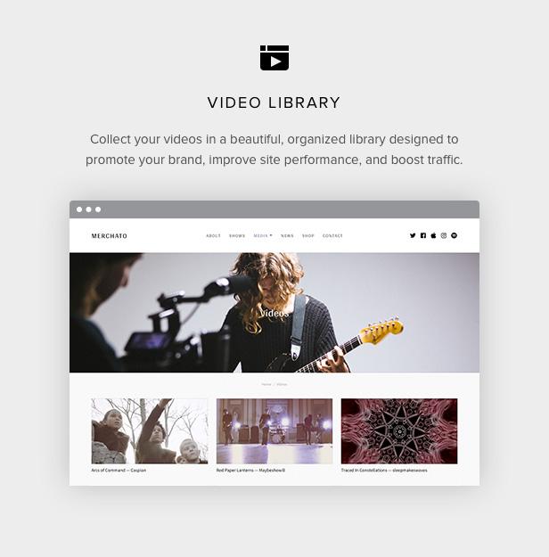 Merchetto-Videothek für Musiker