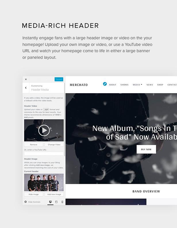 Merchato-Bild- und Video-Header