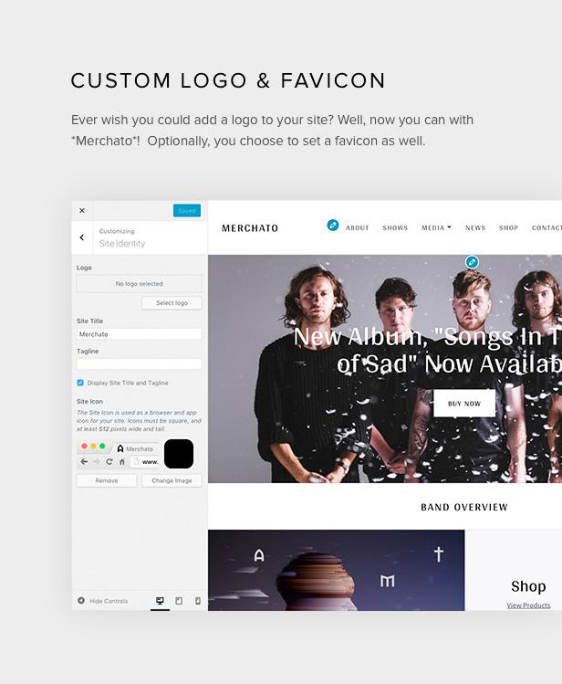 Merchetto Logo und Favicon Optionen
