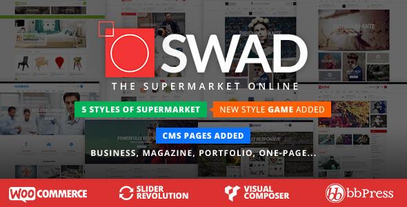 Responsive Supermarkt Online-Thema - Oswad
