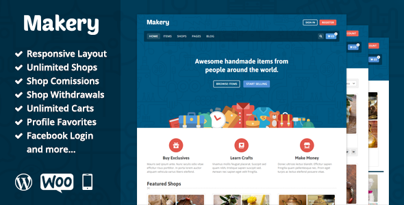 Makery - Marktplatz WordPress Template