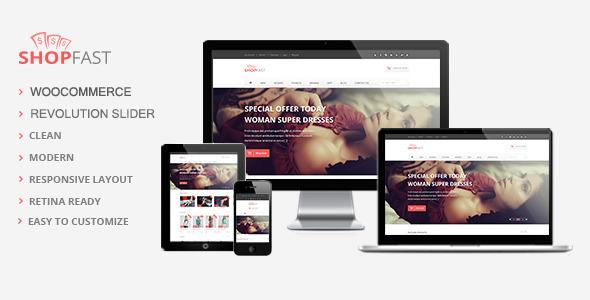 ShopFast - Modernes Woocommerce Wordpress Layout