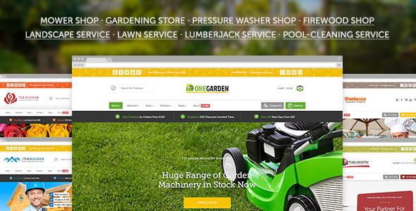 123 Garten - Mehrzweck Landschaft & Garten Bau WordPress Vorlage