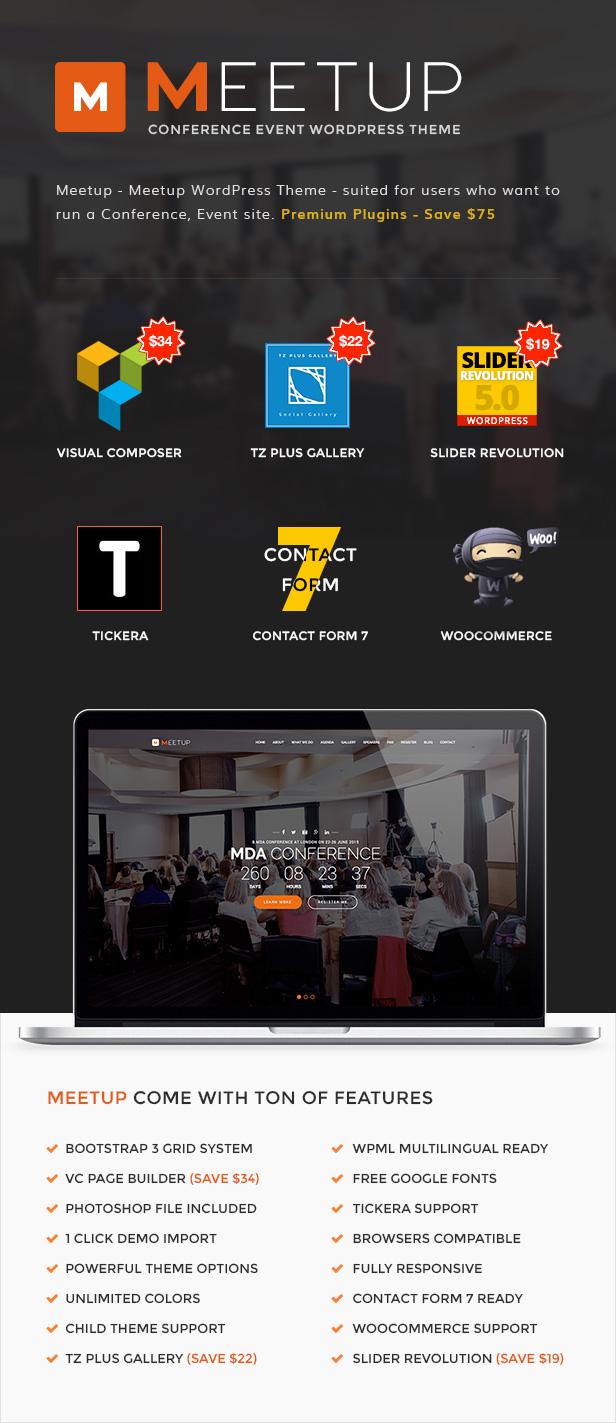 Meetup - Konferenzveranstaltung WordPress Layout
