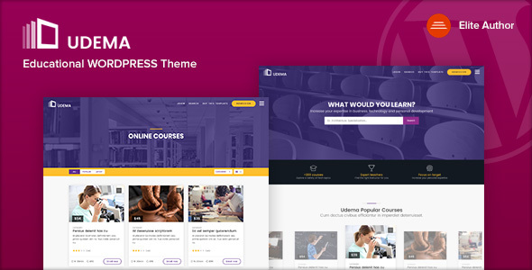 UDEMA - Modernes pädagogisches WordPress Template