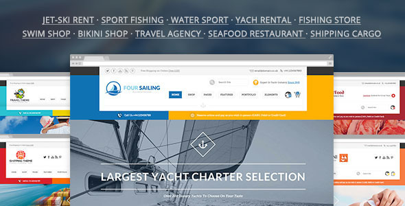 456 Segeln - Sport Shop & Yacht / Transport / Reisen WP Template