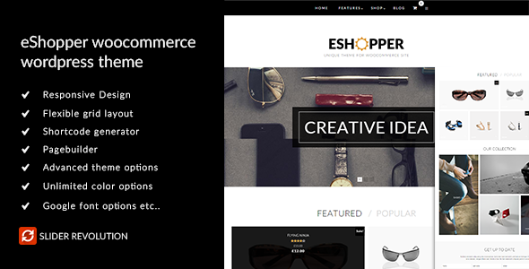 eShopper - WooCommerce WordPress Layout