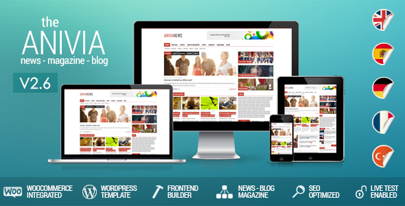 Anivia - Nachrichten, Zeitschrift, Blog WordPress Vorlagen