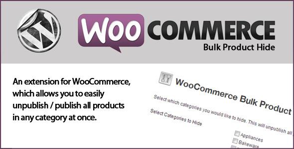 WooCommerce Massenprodukt ausblenden