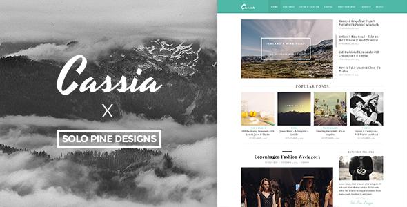 Cassia - Ein responsives WordPress Blog Layout