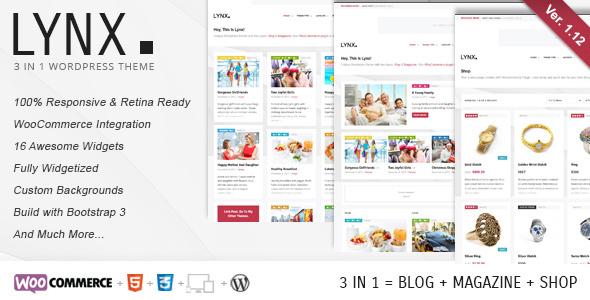Luchs 3 in 1 - Retina Responsive Wordpress Template